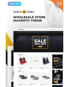 Parts'n'Tires - Car Tuning Clean Responsive Magento Theme