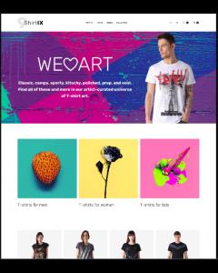 ShirtIX - T-Shirt Shop Responsive Magento Theme