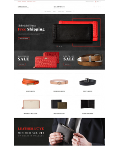 Kartmati - Leather Goods & Accessories Magento Theme