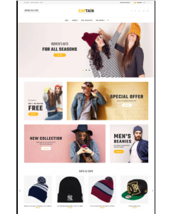 Captain - Hats and Caps Online Store Magento Theme