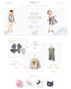 Infant Clothes Magento Theme