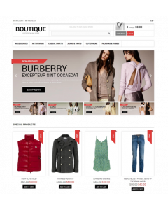 Clothes Boutique Magento Theme