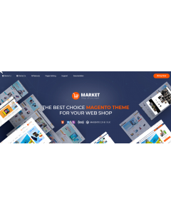 Market - Premium Responsive Magento 2 and 1.9 Store Theme with Mobile-Specific Layout (22 HomePages)