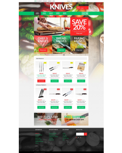 Knives Online Store Magento Theme