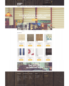 Beautiful Curtains Magento Theme