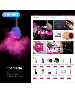 Cosmetta - Responsive Cosmetics Magento Theme