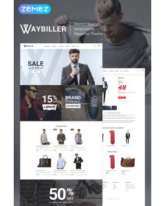 Waybiller - Men's Closing Magento Theme