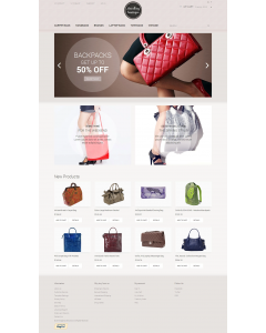 Handbag Boutique Magento Theme