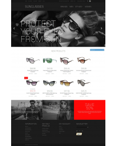 Sunglasses Shop Magento Theme