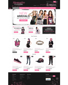 Alternative Clothing Store Magento Theme