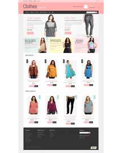 Plus Size Clothing Magento Theme
