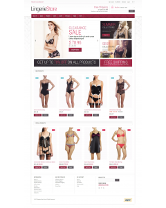 Fancy Lingerie Magento Theme