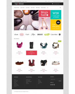Top Shoes Shop Magento Theme